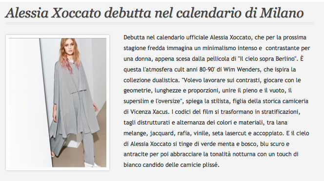 Alessia Xoccato 2014_03_MFFashion 2014